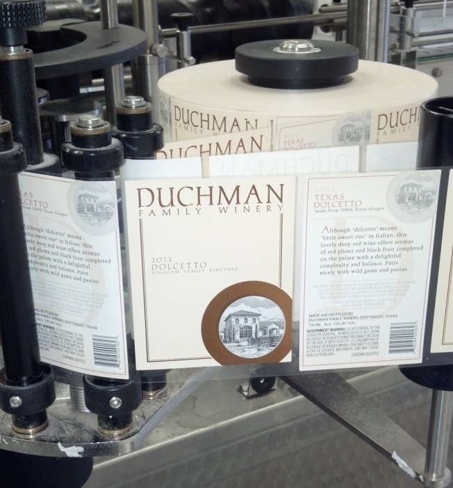 2011 dolcetto bottling line